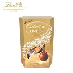 Lindt瑞士莲 软心lindor巧克力球精选混合分享装200g进口零食喜糖