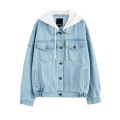 NBUSMK2018韩版女装秋装新款宽松牛仔开衫夹克短外套焕蓝色