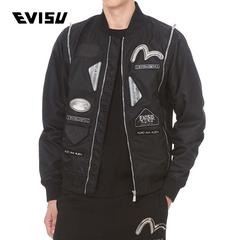 EVISU EVISUKURO 19SS 男士多种徽章图案外套夹克 1ESGNM9JK723XX