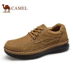 Camel骆驼男靴 秋冬新品日常户外休闲鞋高帮牛皮系带工装鞋休闲皮鞋男