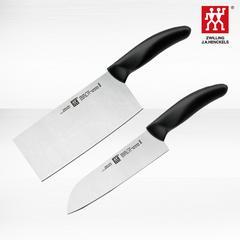 德国双立人刀具中片刀多用刀2件套装厨房家用不锈钢菜刀切熟食刀