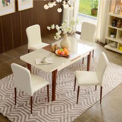 A家家具 餐桌 餐桌餐椅组合 现代简约可折叠伸缩饭桌木质餐厅家具 DC2202 米黄色单餐桌
