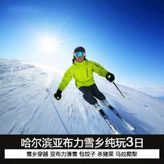 哈尔滨-亚布力激情滑雪-二浪河-雪乡穿越林海3日活动