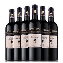 云端美酒 法国进口 蒙巴顿城堡干红葡萄酒 法国波尔多法定产区 AOP干红 750ml*6瓶