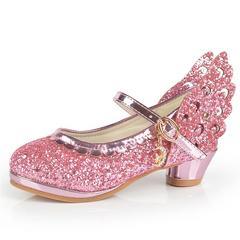女童皮鞋公主鞋软底儿童高跟鞋小学生女孩子单鞋春秋公主鞋6789岁