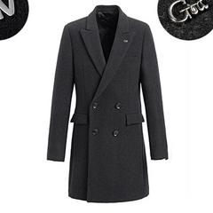 男士羊毛呢子外套男冬季加厚潮流中长款风衣青年毛呢大衣男英伦风