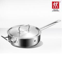 德国双立人Classic II 24cm煎炒锅平底煎锅厨房不锈钢锅具少油烟